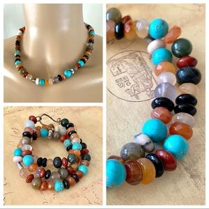 Multicolored Gemstone Beaded Necklace